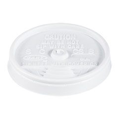Dart® Sip Thru Lids, Fits 6-10oz Cups, White, 1000/Carton