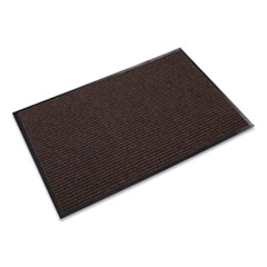 Crown Needle Rib Wipe and Scrape Mat, Polypropylene, 48 x 72, Brown