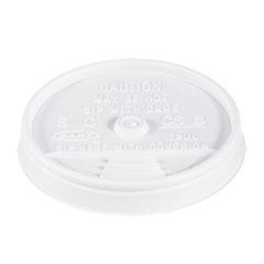 Sip-Through Lids For 10, 12, 14 oz Foam Cups, Plastic, White, 1000/Carton