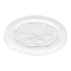 Dart® Polystyrene Plastic Flat Straw-Slot Cold Cup Lids