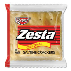 Keebler® Zesta Saltine Crackers, 2 Crackers/Pack, 500 Packs/Carton
