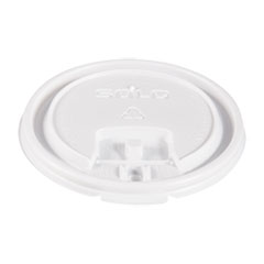 Dart® Lift Back and Lock Tab Cup Lids, for 10oz Cups, White, 100/Sleeve, 20 Sleeves/CT