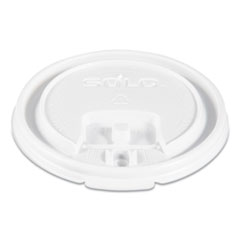 Dart® Lift Back and Lock Tab Cup Lids, Fits 8 oz Cups, White, 100/Sleeve, 10 Sleeves/Carton