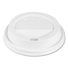 Dart® Traveler Cappuccino Style Dome Lid, Fits 10oz Cups, White, 100/Pack, 10 Packs/Carton