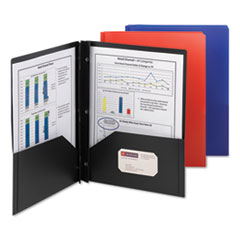Smead® Poly Two-Pocket Folder with Fasteners