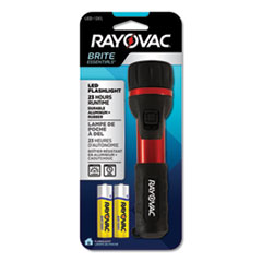 Rayovac® General Purpose Rubber and Aluminum Flashlight, 2 AA Batteries (Included), Red/Black