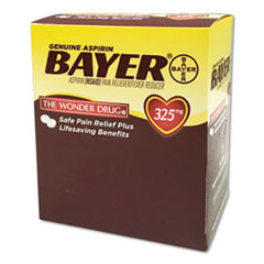 Bayer® Aspirin Tablets, Two-Pack, 50 Packs/Box