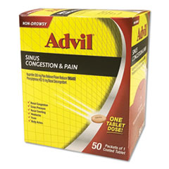 Advil® Sinus Congestion & Pain Relief, 50/Box