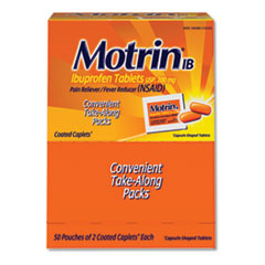 Motrin® IB Ibuprofen Tablets, Two-Pack, 50 Packs/Box