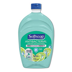 Softsoap® Antibacterial Liquid Hand Soap Refills, Fresh, 50 oz, Green, 6/Carton