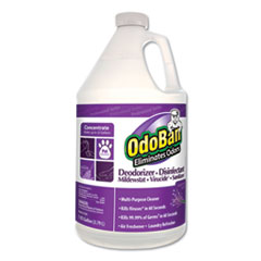 OdoBan® Concentrate Odor Eliminator and Disinfectant, Lavender Scent, 1 gal Bottle, 4/Carton