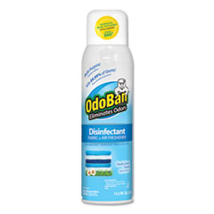 Ready-To-Use Disinfectant/Fabric & Air Freshener 360 Spray, Fresh Linen, 14 oz Can, 12/Carton