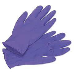 PURPLE NITRILE Exam Gloves, 242 mm Length, Medium, Purple, 100/Box