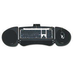 Kensington® Adjustable Articulating Underdesk Keyboard Platform, 24-1/2w x 12-1/2d, Black