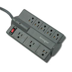 Guardian Premium Surge Protector, 8 Outlets, 6 ft Cord, 1080 Joules, Gray