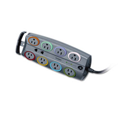 Kensington® SmartSockets® Color-Coded Eight-Outlet Adapter Model Surge Protector Thumbnail