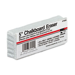 Charles Leonard® 5-Inch Chalkboard Eraser, Wool Felt, 5w x 2d x 1h