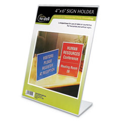 NuDell™ Clear Plastic Sign Holders Thumbnail