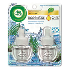 Air Wick® Scented Oil Refill, Fresh Waters, 0.67 oz, 2/Pack, 6 Pack/Carton