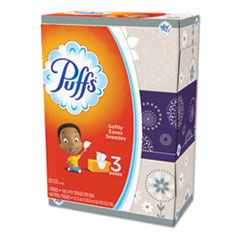 Puffs® White Facial Tissue, 2-Ply, White, 180 Sheets/Box, 3 Boxes/Pack, 8 Packs/Carton