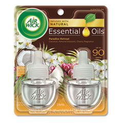 Life Scents Scented Oil Refills, Paradise Retreat, 0.67 oz, 2/Pack, 6 Packs/Carton