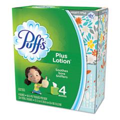 Puffs® Plus Lotion Facial Tissue, 1-Ply, White, 56 Sheets/Box, 24 Boxes/Carton