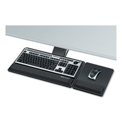 Fellowes® Designer Suites Premium Keyboard Tray, 19w x 10.63d, Black
