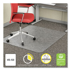 66e1eec4b9d deflecto® EconoMat Occasional Use Chair Mat for Low Pile Carpet