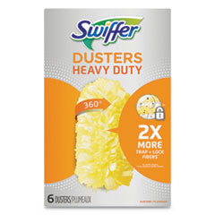 Swiffer® Heavy Duty Dusters Refill, Dust Lock Fiber, Yellow, 6/Box