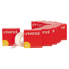 """Universal® Invisible Tape, 1"""" Core, 0.75"""" x 83.33 ft, Clear, 12/Pack"""