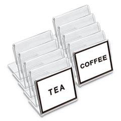 "Universal® Mini Table-Top Sign, 1 1/2"" x 2"", Clear"