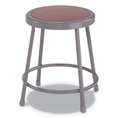 "Industrial Stool, 18"", Brown/Gray Seat"