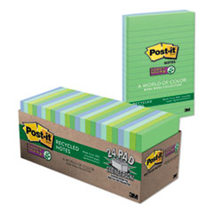 Post-it® Notes Super Sticky Recycled Notes in Bora Bora Colors Thumbnail