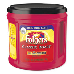 Folgers® Coffee, Classic Roast, 30 1/2 oz Canister, 6/Carton, 294/Pallet