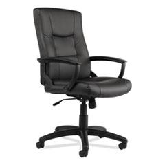 Alera® YR Series Executive High-Back Swivel/Tilt Leather Chair Thumbnail