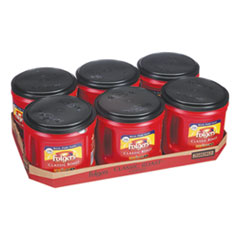 Folgers® Coffee, Classic Roast, Ground, 30.5 oz Canister, 6/Carton