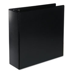 "Universal® Deluxe Round Ring View Binder, 3 Rings, 3"" Capacity, 11 x 8.5, Black"