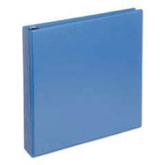 "Universal® Deluxe Round Ring View Binder, 3 Rings, 1.5"" Capacity, 11 x 8.5, Light Blue"