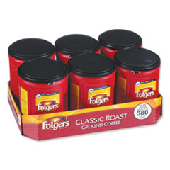 Folgers® Coffee, Classic Roast, 48 oz Canister, 6/Carton