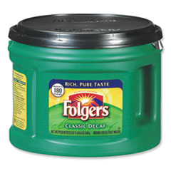 Folgers® Coffee, Classic Roast Decaffeinated, Ground, 22 3/5oz Can