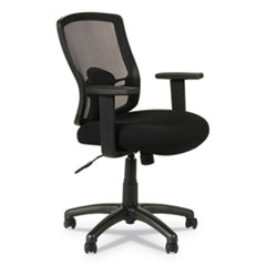 Alera Etros Series Mesh Mid-Back Chair, Supports up to 275 lbs., Black Seat/Black Back, Black Base