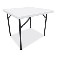 Alera® Square Plastic Folding Table, 36w x 36d x 29 1/4h, White