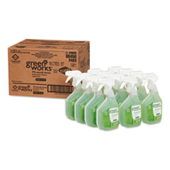 Green Works® All-Purpose and Multi-Surface Cleaner, Original, 32oz Spray Bottle, 12/Carton