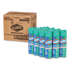 Clorox® Disinfecting Spray, Fresh, 19 oz Aerosol Spray, 12/Carton