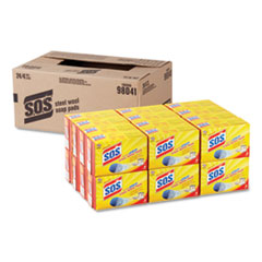S.O.S.® Steel Wool Soap Pad, 4/Box, 24 Boxes/Carton