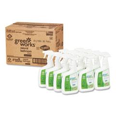 Green Works® Bathroom Cleaner, 24 oz Spray Bottle, 12/Carton
