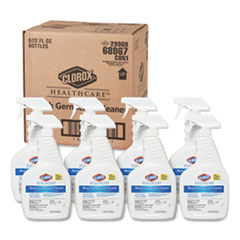 Clorox® Healthcare® Bleach Germicidal Cleaner, 22 oz Spray Bottle, 8/Carton
