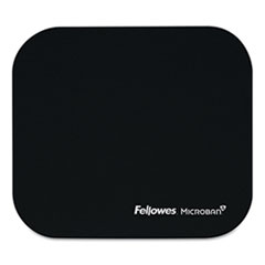 Mouse Pad w/Microban, Nonskid Base, 9 x 8, Black