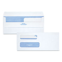 Quality Park(TM) Double Window Redi-Seal(TM) Security-Tinted Envelope