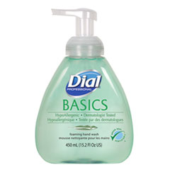 Dial® Professional Basics Foaming Hand Soap, Original, Honeysuckle, 15.2 oz Pump Bottle, 4/Carton